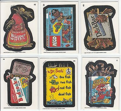 Lot Of 6 1992 Wacky Packages Opc O-Pee-Chee Stickers Cards Hard To Find Vintage
