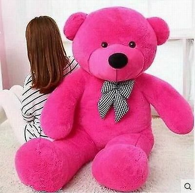 Giant hung 47''big rose teddy bear plush soft 100% pp cotton toys doll gift