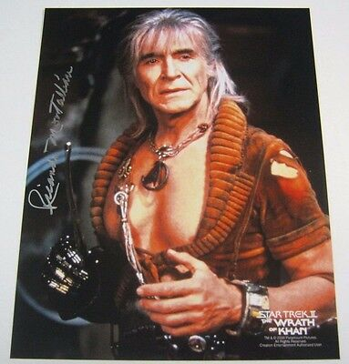 STAR TREK II THE WRATH OF KHAN RICARDO MONTALBAN SIGNED 8x10 MOVIE PHOTO w/ COA