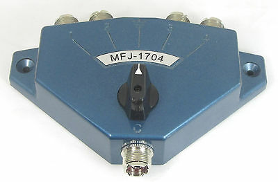 MFJ 1704   -  4 Position Lightning Protected Heavy Duty Switch