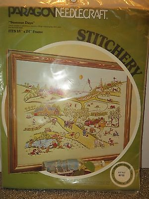 """Paragon Crewel Embroidery Kit 0712  """"Summer Days""""  Designed by Adele Veres NIP"""