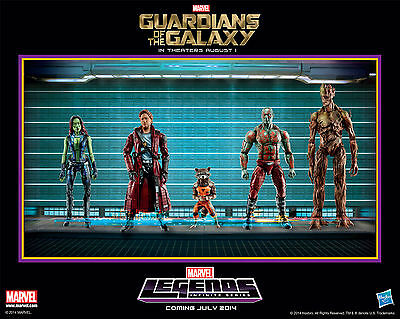 2014 Sdcc Exclusive Guardians Of The Galaxy Marvel Legends Poster By Hasbro