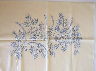 Embroidery Fabric Hungarian Flower Design Pattern Printed On Cushion Cover