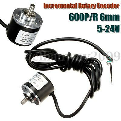 6mm Shaft 600P/R Incremental Rotary Encoder AB Two phase MAX Mechanical Speed