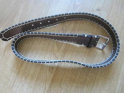 Hobbs Brown Leather Belt, Size S/M