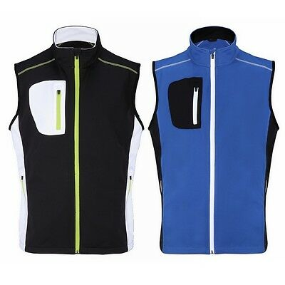 Woodworm Golf Full Zip Soft Shell Vest / Gilet