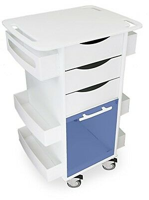 TrippNT 51007BLUE Polyethylene Core DX Multi Tasking Storage Cart with Blue