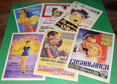 Vintage Postcards 6 Movie Advertising