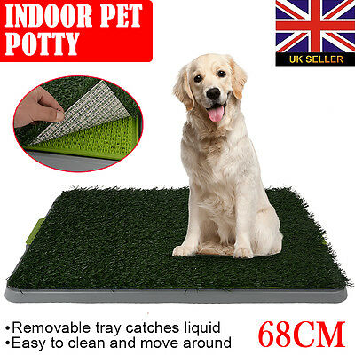 Pet Dog Toilet Mat Indoor Portable Training Grass Potty Pad Loo Tray Large