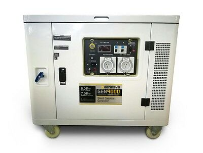 Petrol Generator Silenced 9Kva / 8000W - 240V *free Delivery* Food Truck