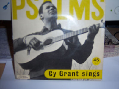 "Cy Grant Sings(6 Track 7"")Psalms-,136,138,22,41,32-P/sleeve-Grail Records-Gr7/8"