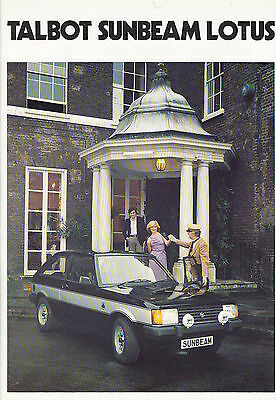 Talbot Sunbeam Lotus, August 1981, Brochure.