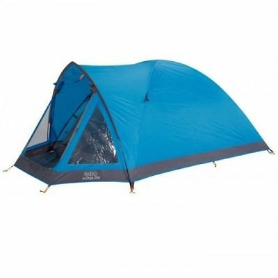 Vango Alpha 250 2 Man Person Camping Tunnel Tent in River Blue- 2016