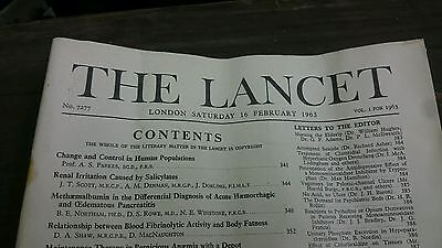 vintage issue of the lancet febuary 1963