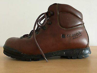 Scarpa Asolo Attak Brown Leather Hiking / Walking Boots-Size 6