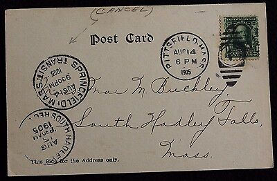 Nice Vintage USA Postcard With 3 interesting Postmarks incl a Mass Transit 1905