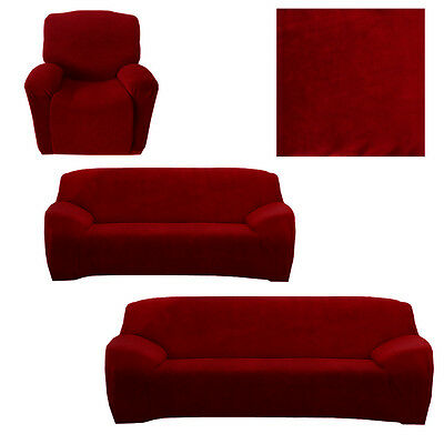 1/2/3 Seater Easy Stretch Fit Sofa Couch Slip Cover Washable Slipcover Protector