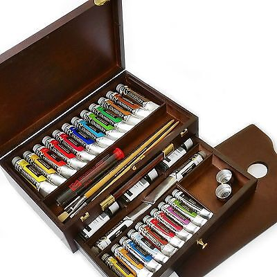 Royal Talens - Rembrandt Oil Colour Box - Master Gold Edition in Wooden Chest