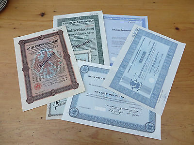 Lot German And French Share Certificates - Circa 1925 Dates - Original?