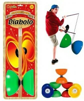 Diablo with Wood Sticks trick flying and juggling toy