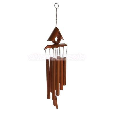 Toit Décor carillons Wind Chime bambou 8 Tubes Hanging Ornament Garden Home