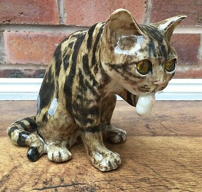 Delightful 'Animated' Winstanley Tabby Cat Size 3 - Unusual Position/Washing
