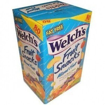 Welch's Fruit Snacks mixed fruit- 80 pouches welchs