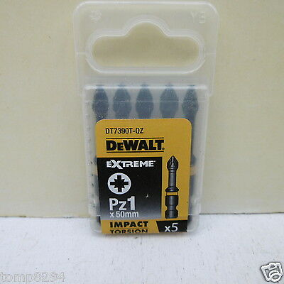 Dewalt Extreme Dt7390T 5 X Pz1 High Impact Torsion Screwdriver Bits X 50Mm