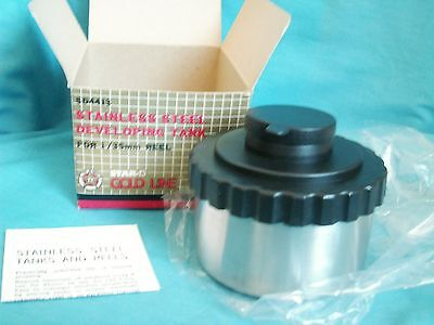 STAINLESS STEEL 35mm FILM DEVELOPING TANK --STAR-D Gold Line --NEW