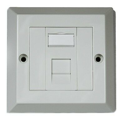 RJ45 Face Plate Wall Socket Cat5e Ethernet Single Gang 1 Port Standard UK Spec