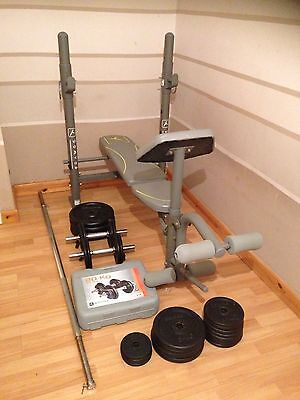Domyos Multi Purpose Fitness Weight Bench & Bars/Weights