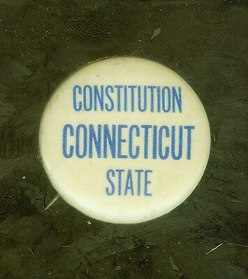 "1960's Connecticut Constitution State 1 1/4"" pin"