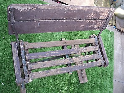 Very old rare switchback tram seat/vintage/retro/antique/steampunk.