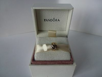 Pandora, 14ct Yellow Gold Heart Stopper / Spacer Bead Charm