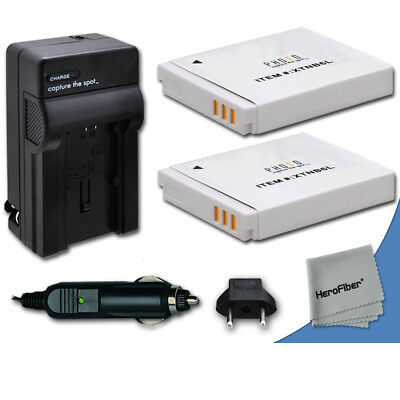 2 NB-6L NB6LH Batteries + Quick AC/DC Charger for Canon Powershot SX600HS Camera