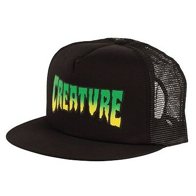 Creature LOGO Skateboard Trucker Hat BLACK