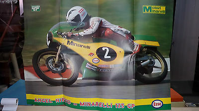 Poster ANGEL NIETO  su Minarelli 125 GP  cm 69 x 50  Supplemento a Motosprint