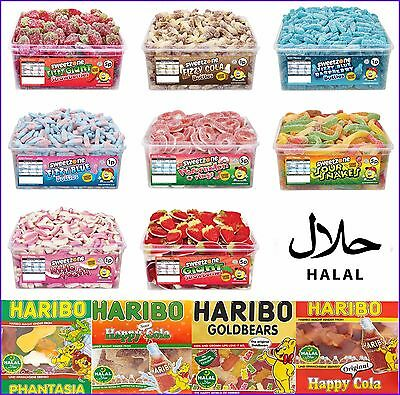 Halal Sweetzone Haribo Jelly Fizzy Pencils Candy Sweets Tubs Various Tub Box