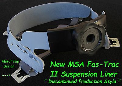 MSA Skullgard Fas-Trac II Hard Hat Liner, NEW, With Metal Clips, No Longer Made