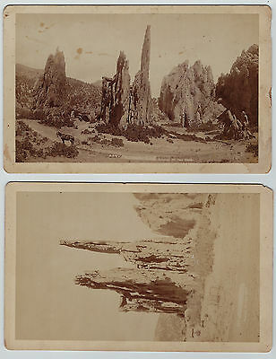 2 Photos - Colorado Springs CO Garden of Gods 1890 Union Pacific Denver Gulf RR