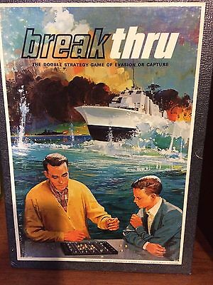 Vintage 1965 Break Thru Double Strategy Game 3M Bookshelf Game complete