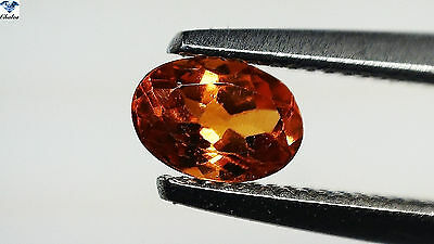 1x Spessartin Granat - Oval facettiert 0,32ct. 3,4x4,9mm (1452E)