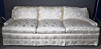 Elegant Ivory Upholstered Sofa Couch Loveseat Settee Chaise Daybed Armchair