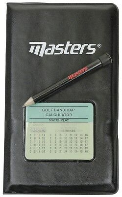 Masters Deluxe Golfers Protective Scoring Leather Case Golf Score Card Holder