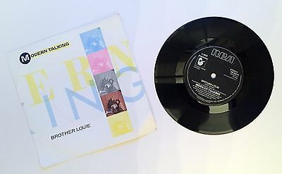 "Modern Talking ‎– Brother Louie. Vinyl 7"" Single. 1986"
