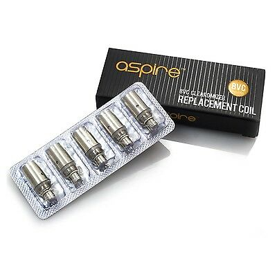 100% Genuine Aspire BVC Coil Heads Replacement 1.8 Ohm 2.1 Ohm 1.6 Ohm