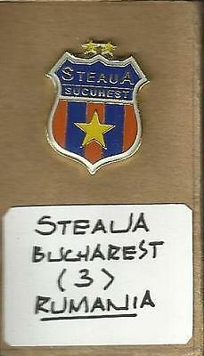 Steau Bucharest (Rumania Premier Division) Glass Fronted Badge Butterfly Fixing