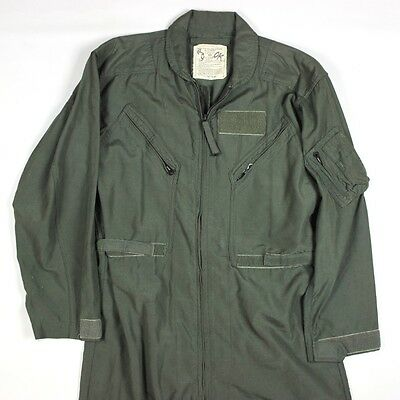 Us Air Force Usaf Cwu-27/p Sage Green Fire Resistant Flight Suit Flyers Summer