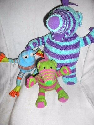 Fimbles - 3 Soft Toy Characters