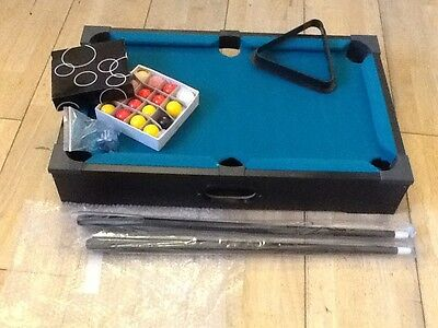 Table top pool table new and unused